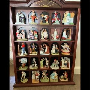 Danbury Mint collection Normal Rockwell figurines